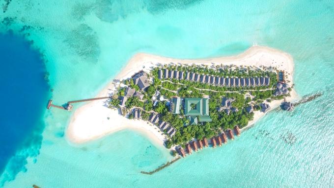 迪古法鲁岛 Dhigufaru Island Resort 鸟瞰地图birdview map清晰版 马尔代夫