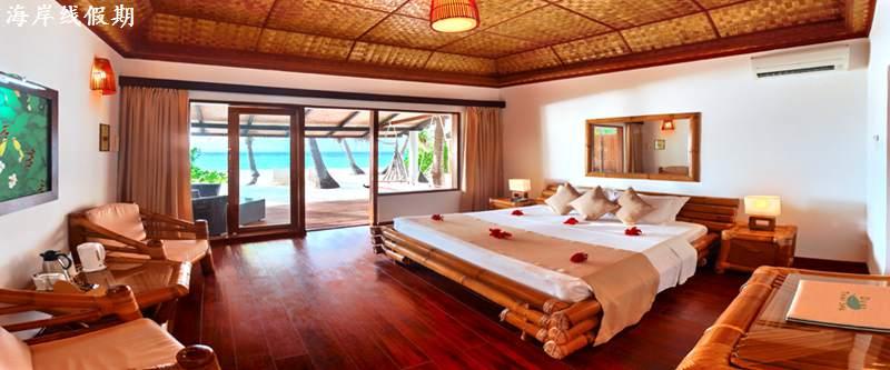 房型内部设施图片参考,如无边泳池与电视及音响, 高级沙滩屋-Superior Room maldievs(安嘎嘎岛 Angaga Island)