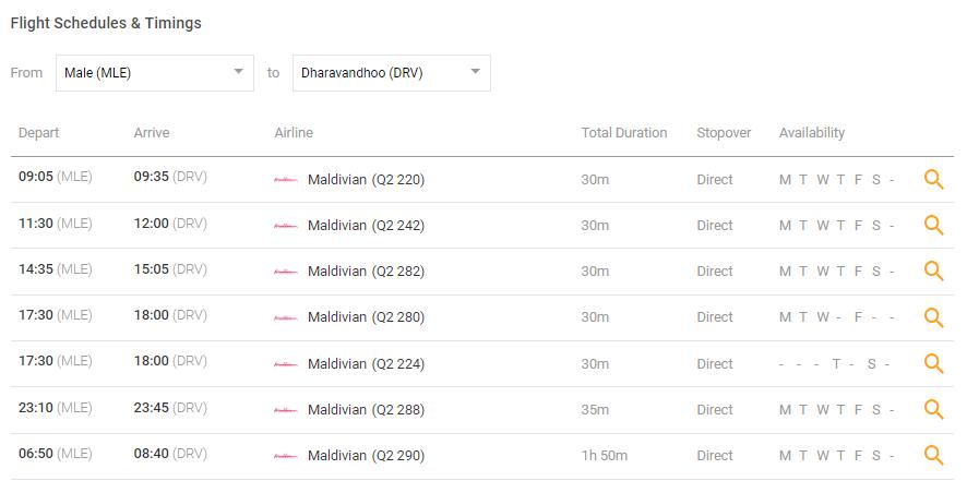maldives攻略,  马尔代夫最新最全的内陆飞机(内飞)Q2国家航空,VP(FLYME)航空的航班时刻表,附官网网址 -马尔代夫攻略-一级代理-海岸线假期官网