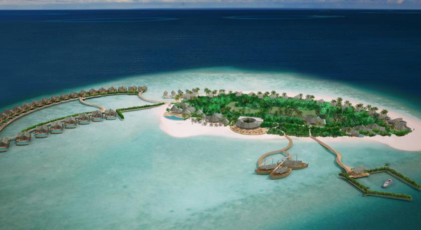 米莱度岛 Milaidhoo Island Maldives 鸟瞰地图birdview map清晰版 马尔代夫