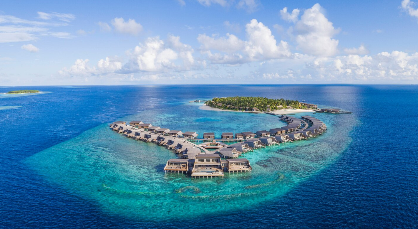 瑞吉|沃木里 The St. Regis Maldives Vommuli Resort 鸟瞰地图birdview map清晰版 马尔代夫