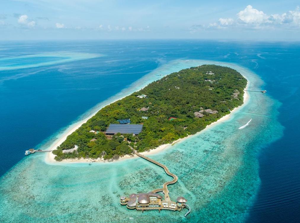 索尼娃富士岛度假村 Soneva Fushi 鸟瞰地图birdview map清晰版 马尔代夫