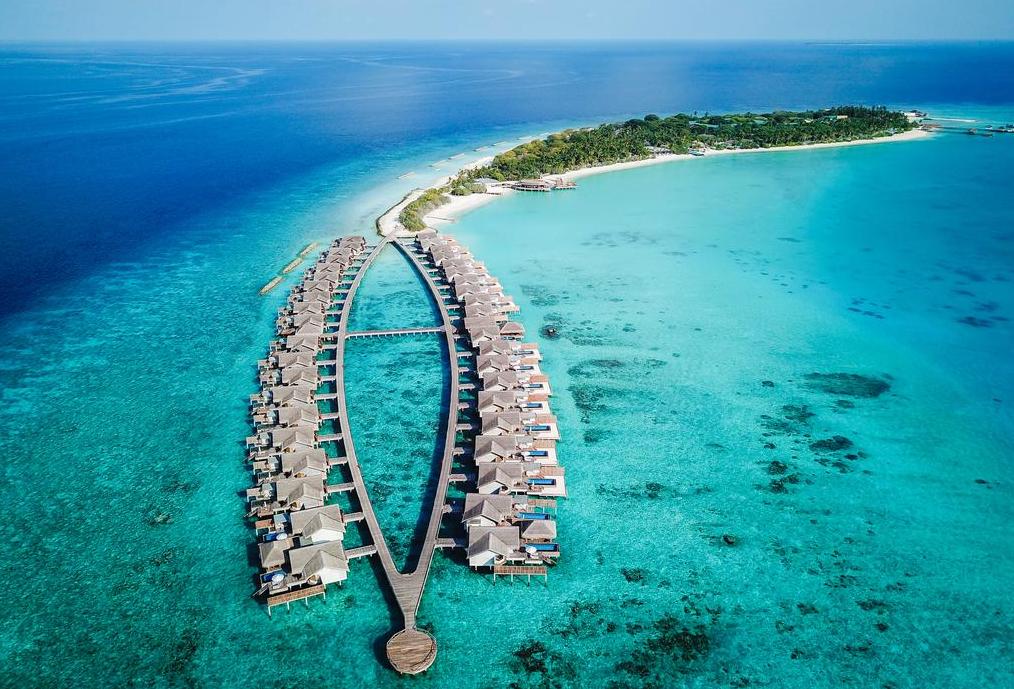 斯茹芬富士岛 Sirru Fen Fushi 鸟瞰地图birdview map清晰版 马尔代夫