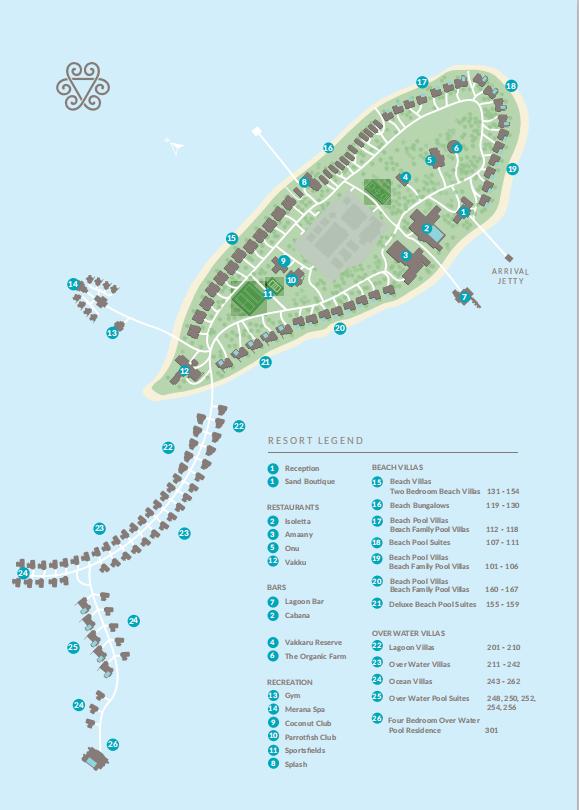 马尔代夫 瓦卡库岛 Vakkaru Maldives 平面地图查看
