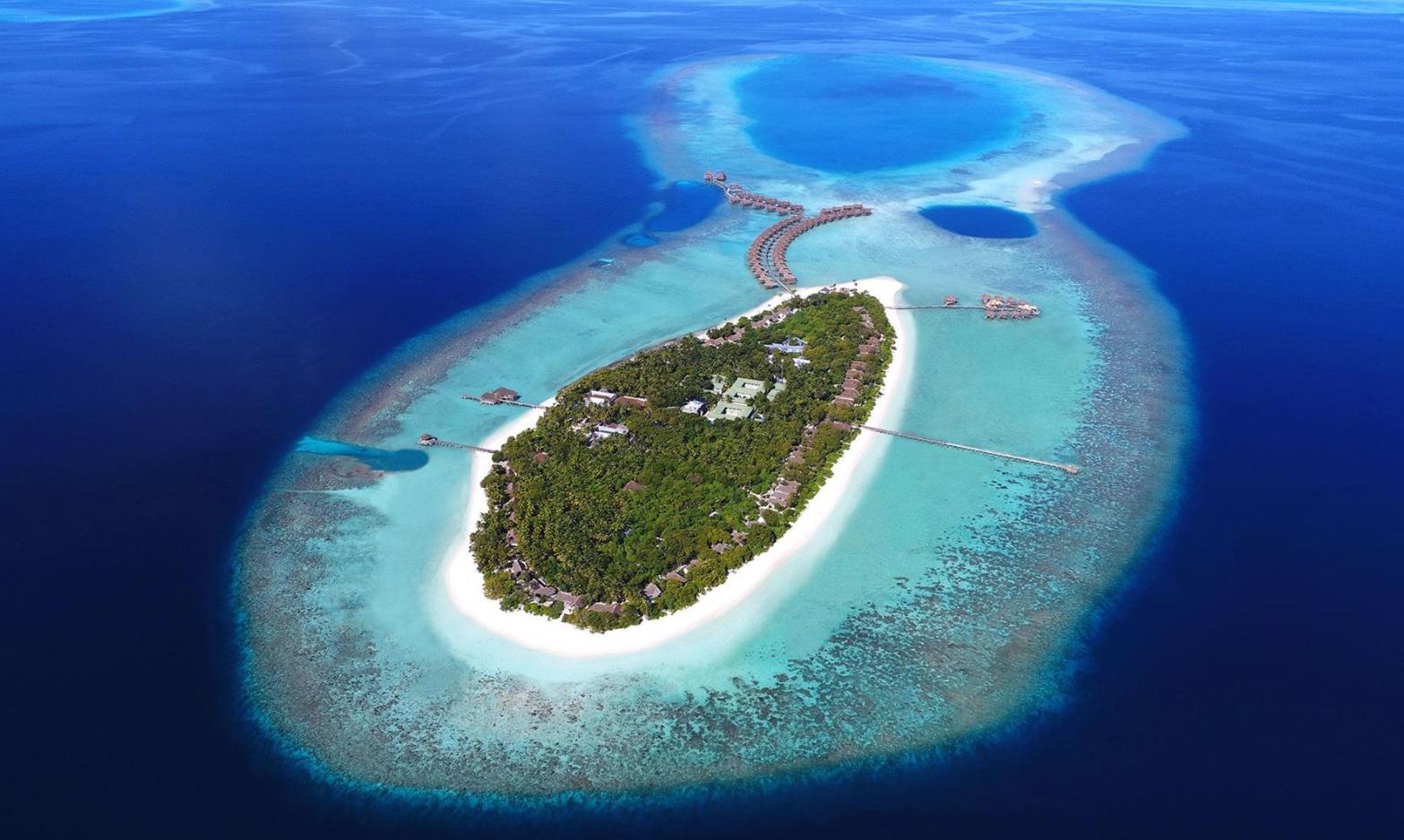 瓦卡库岛(小白马岛) Vakkaru Maldives 鸟瞰地图birdview map清晰版 马尔代夫