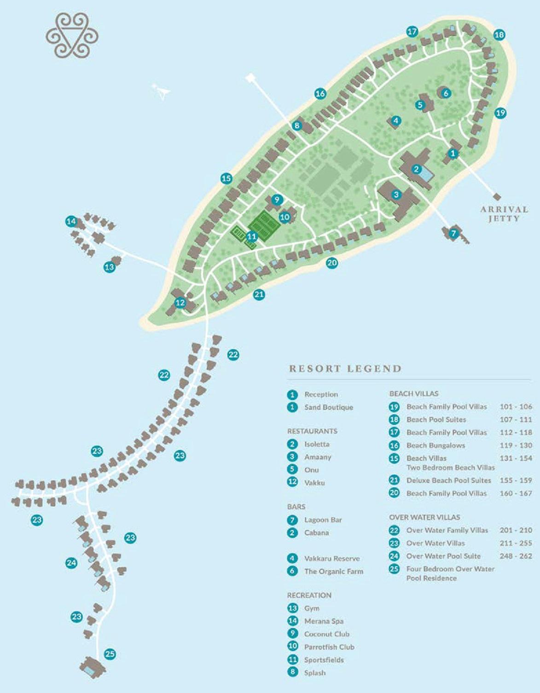 马尔代夫 瓦卡库岛(小白马岛) Vakkaru Maldives 平面地图查看