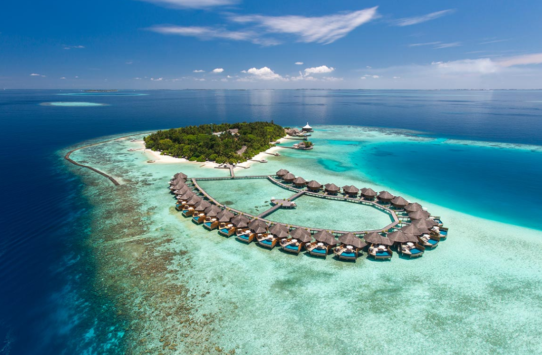 巴洛斯岛 Baros Maldives 鸟瞰地图birdview map清晰版 马尔代夫
