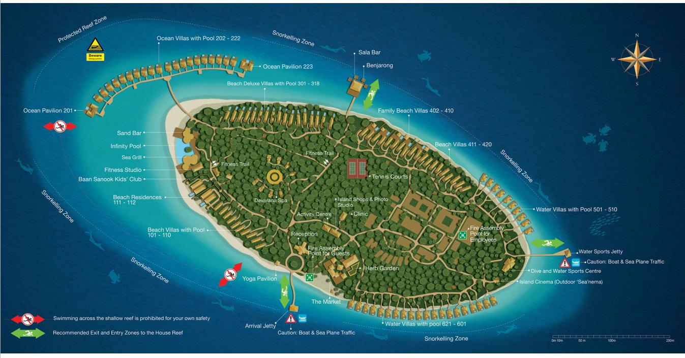 马尔代夫 都喜天阙 Dusit Thani 平面地图查看