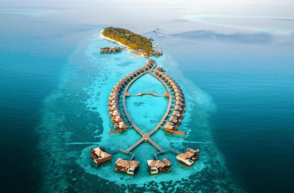 莉莉岛|丽莉岛 Lily Beach Resort 鸟瞰地图birdview map清晰版 马尔代夫