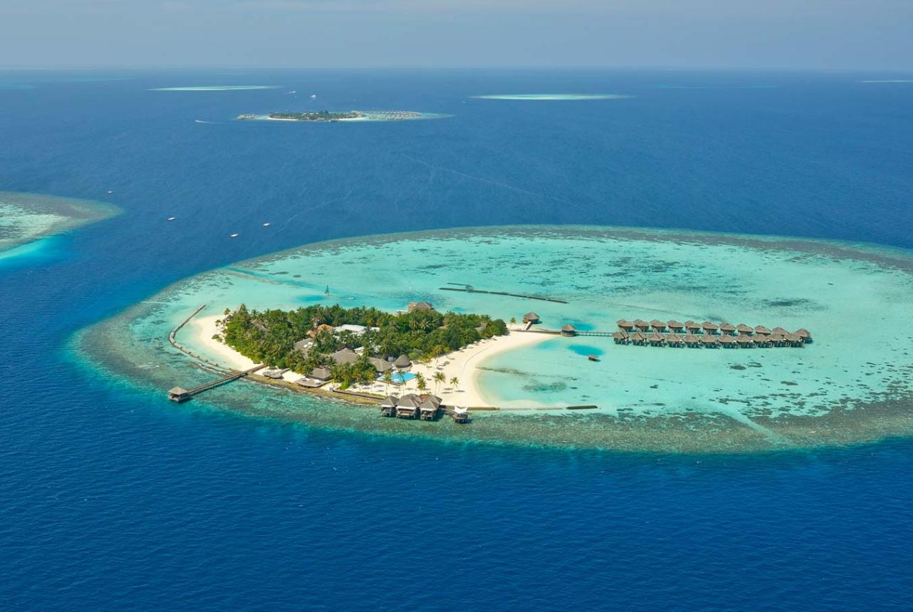 马富士瓦鲁 maafushivaru 鸟瞰地图birdview map清晰版 马尔代夫