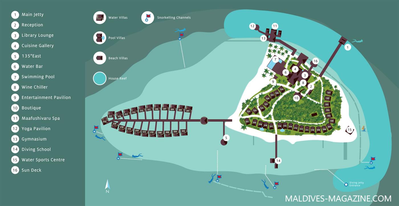 马尔代夫 马富士瓦鲁 Maafushivaru Maldives 平面地图查看