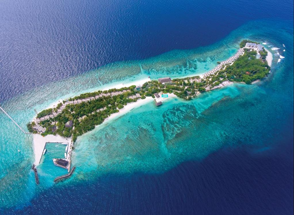 奥露岛 OBLU by Atmosphere at Helengeli 鸟瞰地图birdview map清晰版 马尔代夫