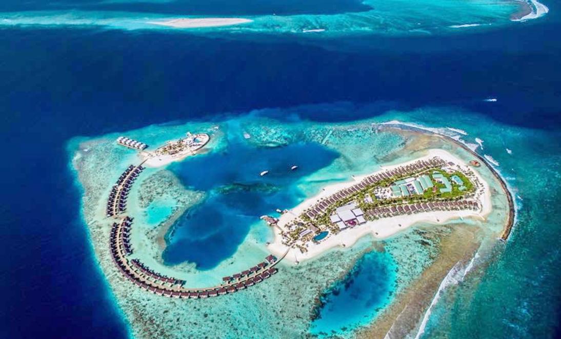 奥静岛 OBLU by Atmosphere at sangeli 鸟瞰地图birdview map清晰版 马尔代夫