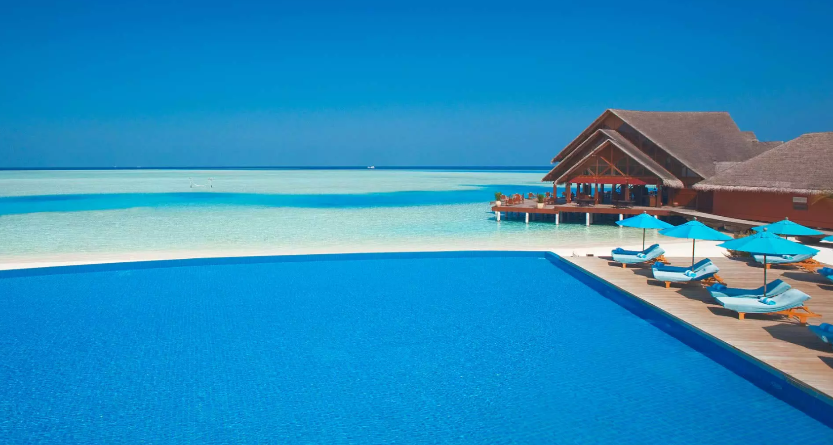 笛古岛D岛(安娜塔拉) Anantara Dhigu ,马尔代夫风景图片集:沙滩beach与海水water太美,泳池pool与水上活动watersport好玩