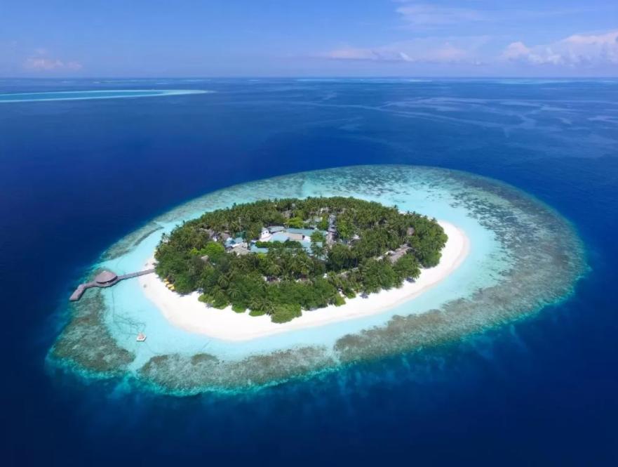 悦椿伊瑚鲁(葫芦)岛 Angsana Ihuru 鸟瞰地图birdview map清晰版 马尔代夫