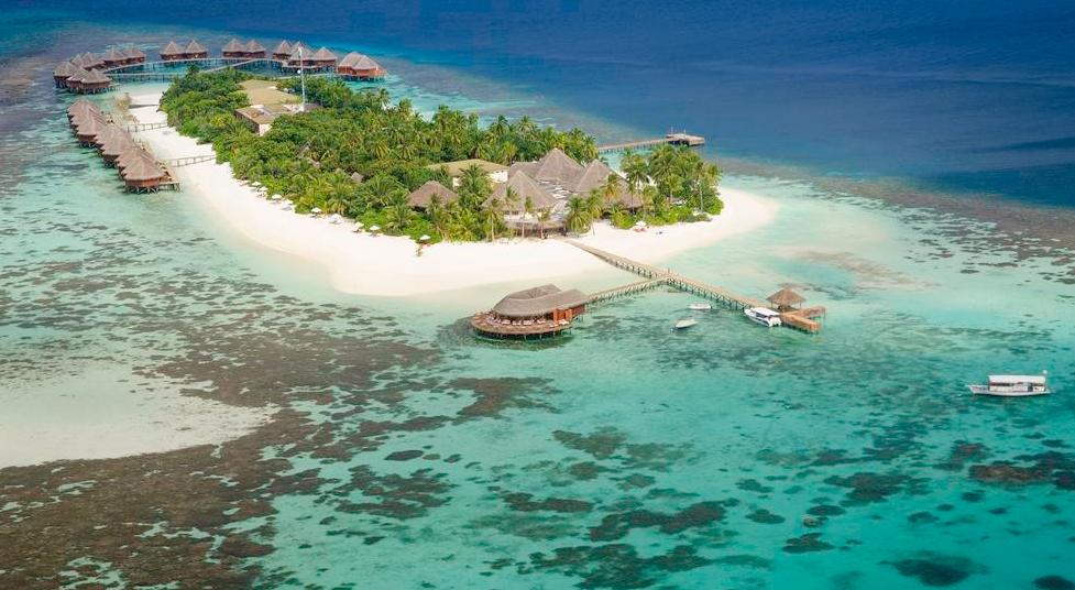 蜜莉喜岛 Mirihi Island Resort 鸟瞰地图birdview map清晰版 马尔代夫