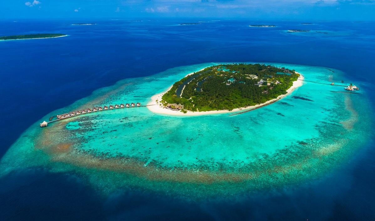 芙拉薇莉岛 Furaveri Island Resort and Spa 鸟瞰地图birdview map清晰版 马尔代夫