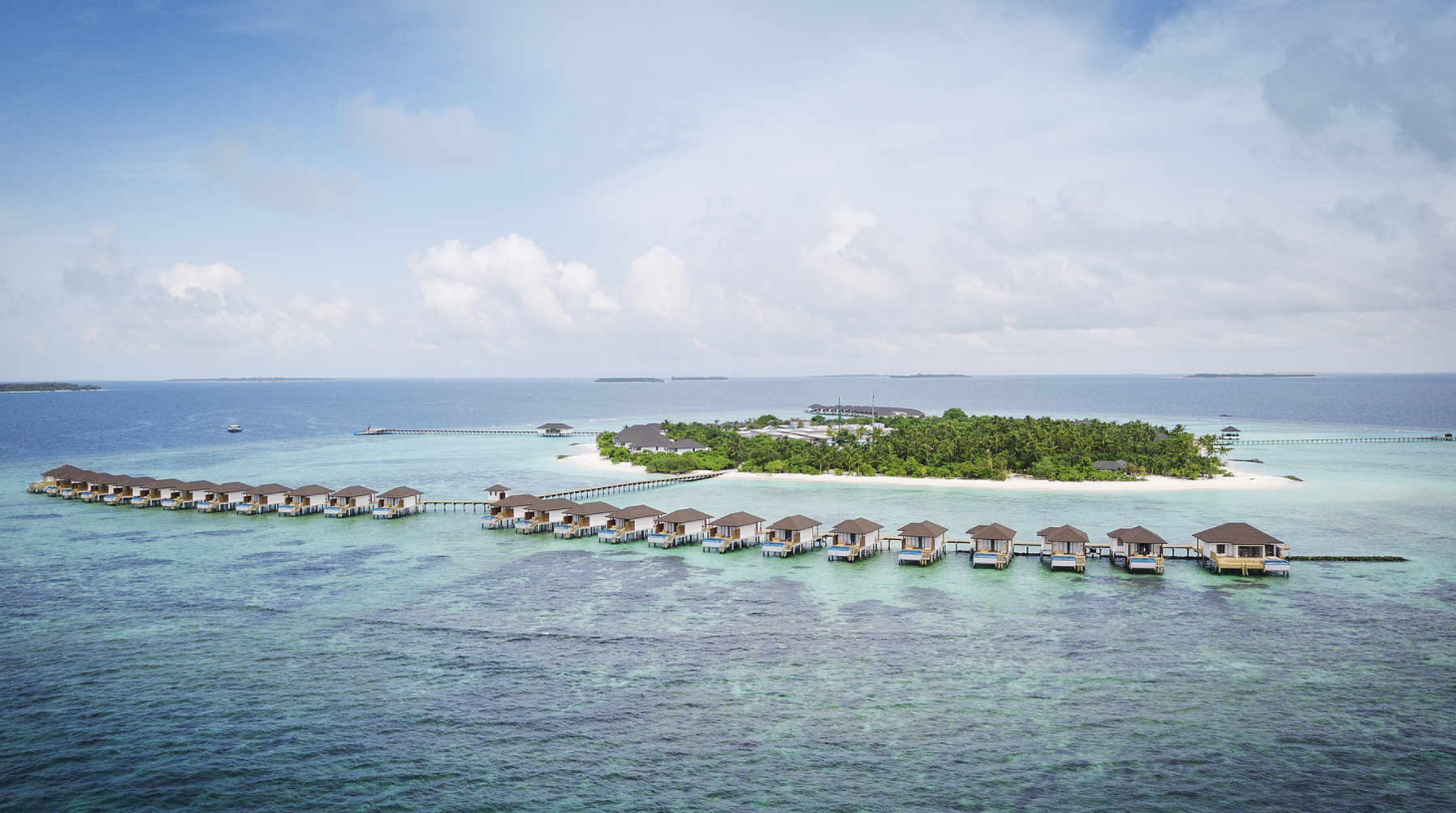 新鲁滨逊诺鲁岛|努努岛 Robinson Club Noonu 鸟瞰地图birdview map清晰版 马尔代夫