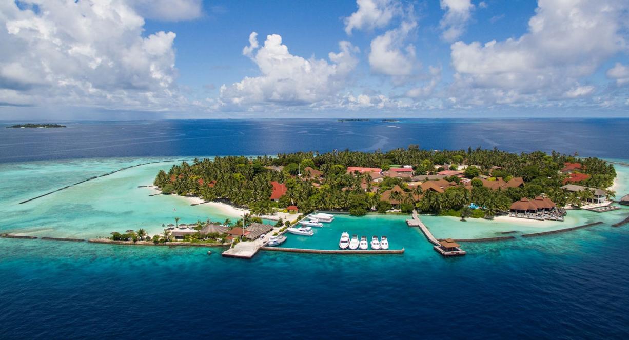 椰子岛|可伦巴岛 Kurumba 鸟瞰地图birdview map清晰版 马尔代夫