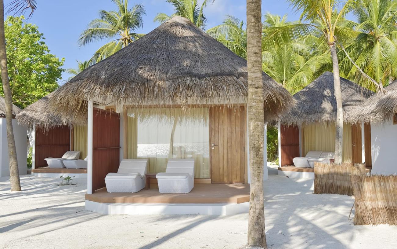 海滩平房-Beach Bungalow 房型图片及房间装修风格(美人礁岛|蓝色美人蕉 Thulhagiri)海岛马尔代夫