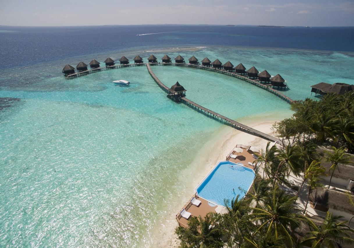 马尔代夫 美人礁岛|蓝色美人蕉 Thulhagiri 平面地图查看