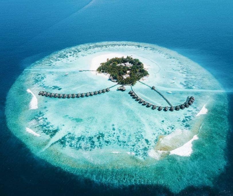 美人礁岛|蓝色美人蕉 Thulhagiri 鸟瞰地图birdview map清晰版 马尔代夫