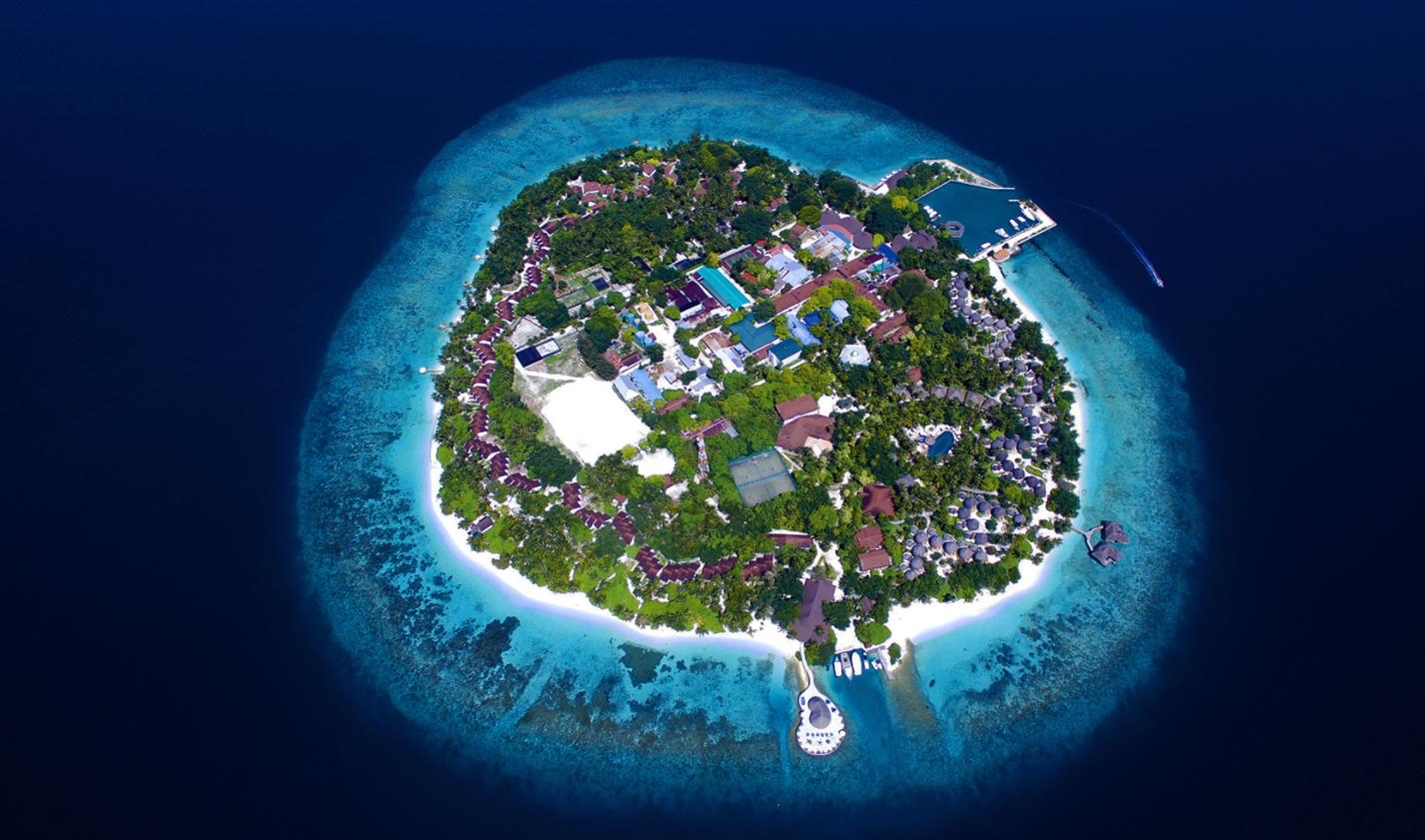 班度士岛|班多士 Bandos islands 鸟瞰地图birdview map清晰版 马尔代夫
