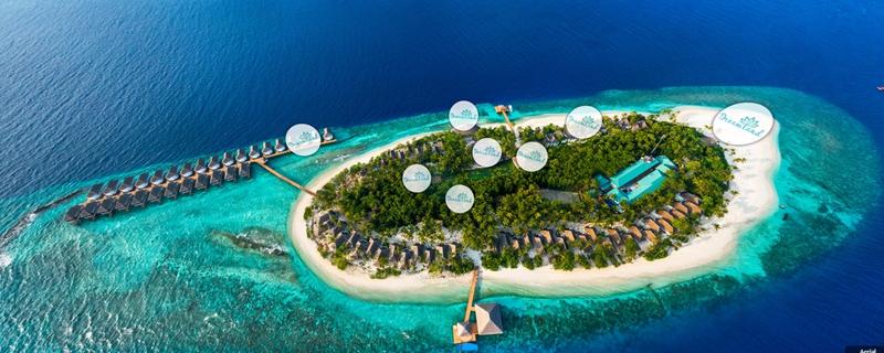 梦境岛 Dreamland Island 鸟瞰地图birdview map清晰版 马尔代夫