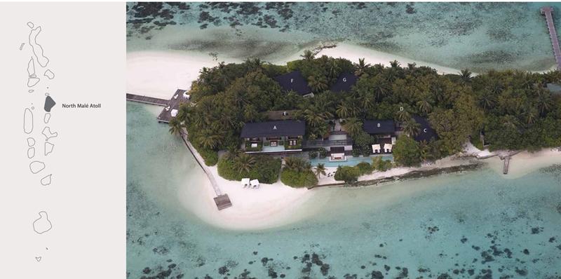 库达希蒂岛 Coco Privé Kuda Hithi Island 鸟瞰地图birdview map清晰版 马尔代夫