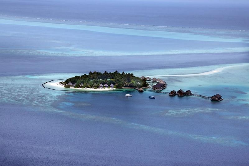 马尔代夫 甘格西岛 Gangehi Island Resort 平面地图查看