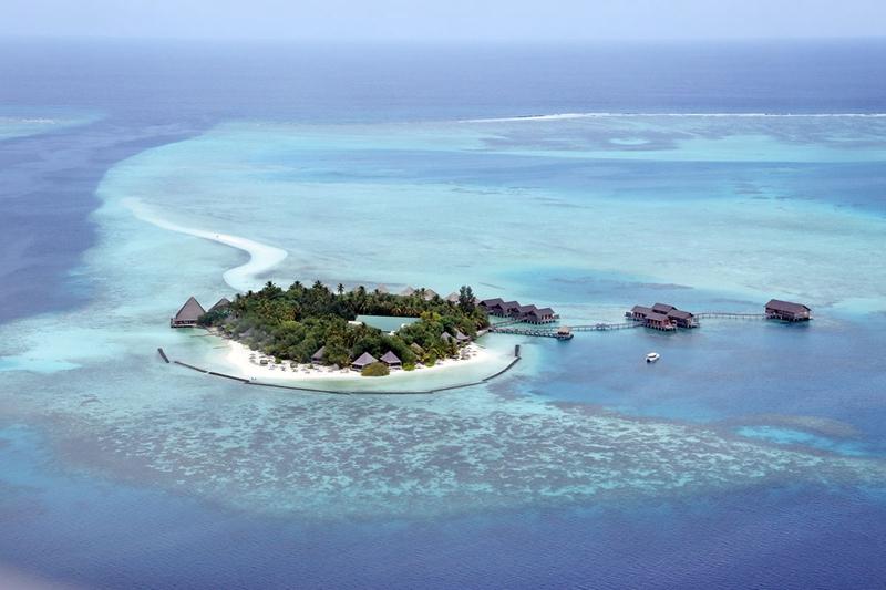 甘格西岛 Gangehi Island Resort 鸟瞰地图birdview map清晰版 马尔代夫