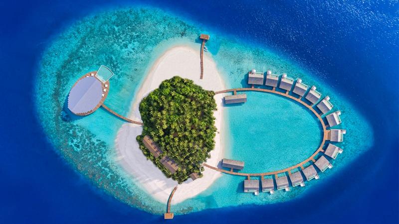 库达度私人岛 Kudadoo 鸟瞰地图birdview map清晰版 马尔代夫