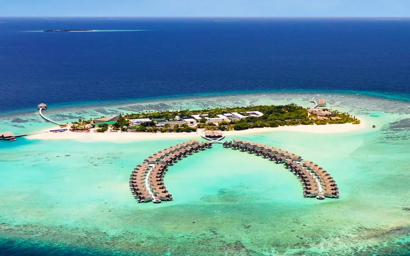 莫凡彼|瑞享岛 Movenpick Resort Kuredhivaru Maldives 鸟瞰地图birdview map清晰版 马尔代夫