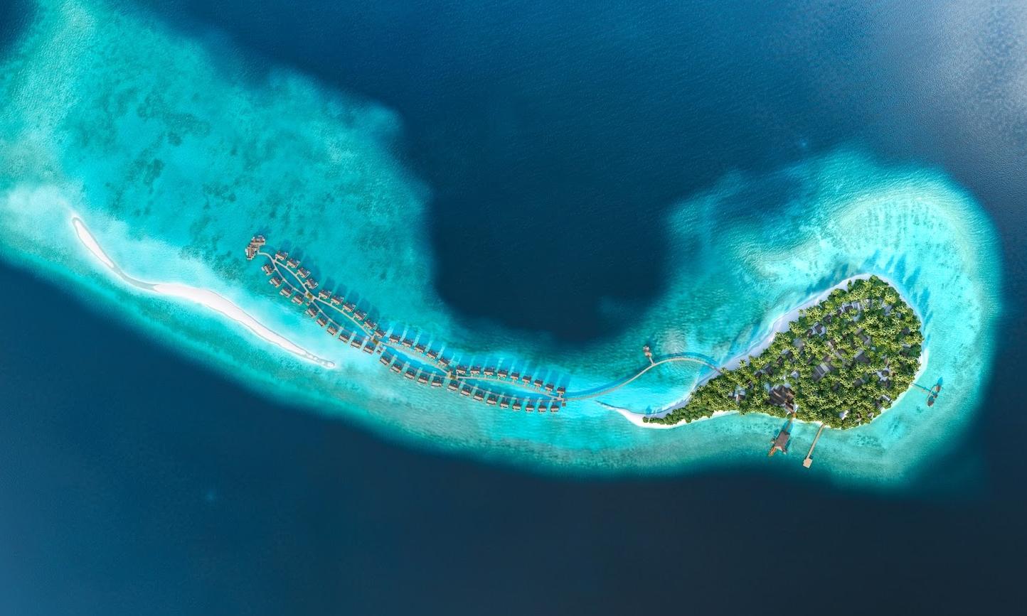 娇丽岛 Joali Maldives 鸟瞰地图birdview map清晰版 马尔代夫