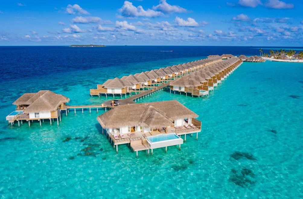 伊露薇丽岛 Sun Aqua Iru Veli 鸟瞰地图birdview map清晰版 马尔代夫