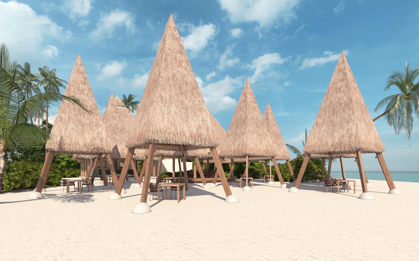 马尔代夫 海瑞坦斯阿拉岛 Heritance Aarah Maldives Luxury Resort 平面地图查看