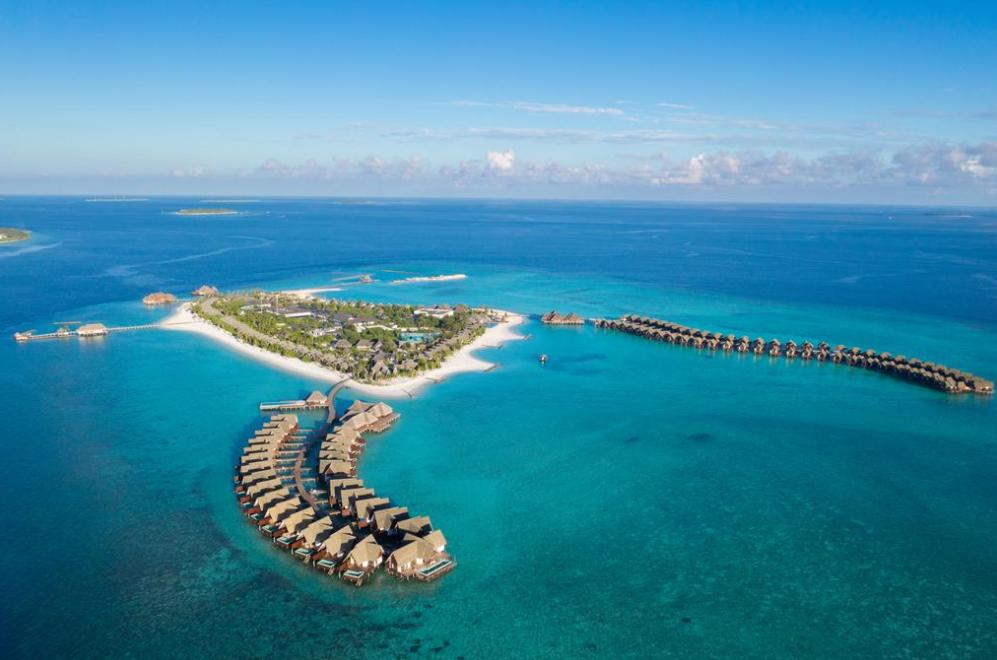 海瑞坦斯阿拉岛|瑰宝岛 Heritance Aarah Maldives 鸟瞰地图birdview map清晰版 马尔代夫