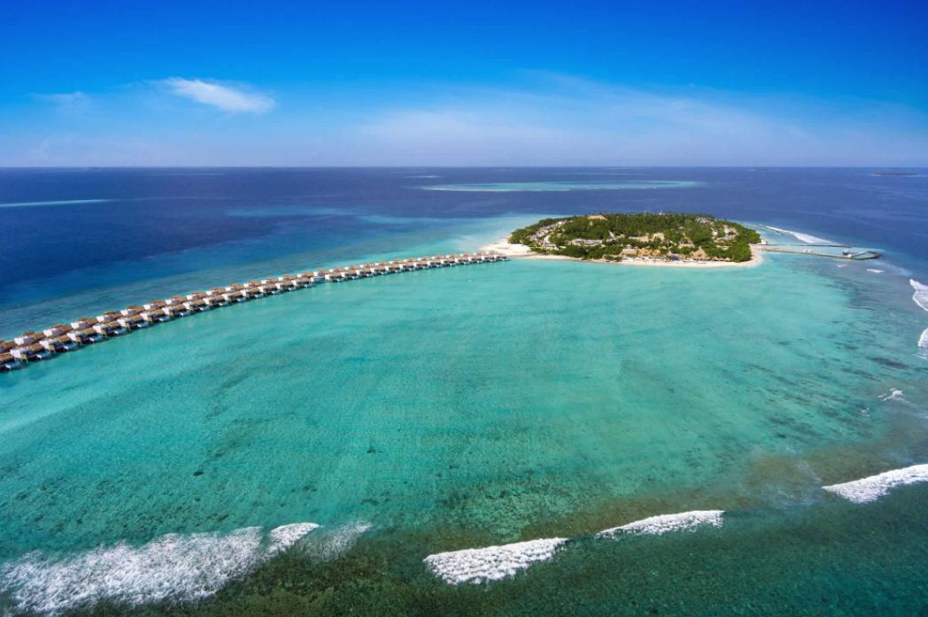 翡翠岛 Emerald Maldives Resort and Spa 鸟瞰地图birdview map清晰版 马尔代夫
