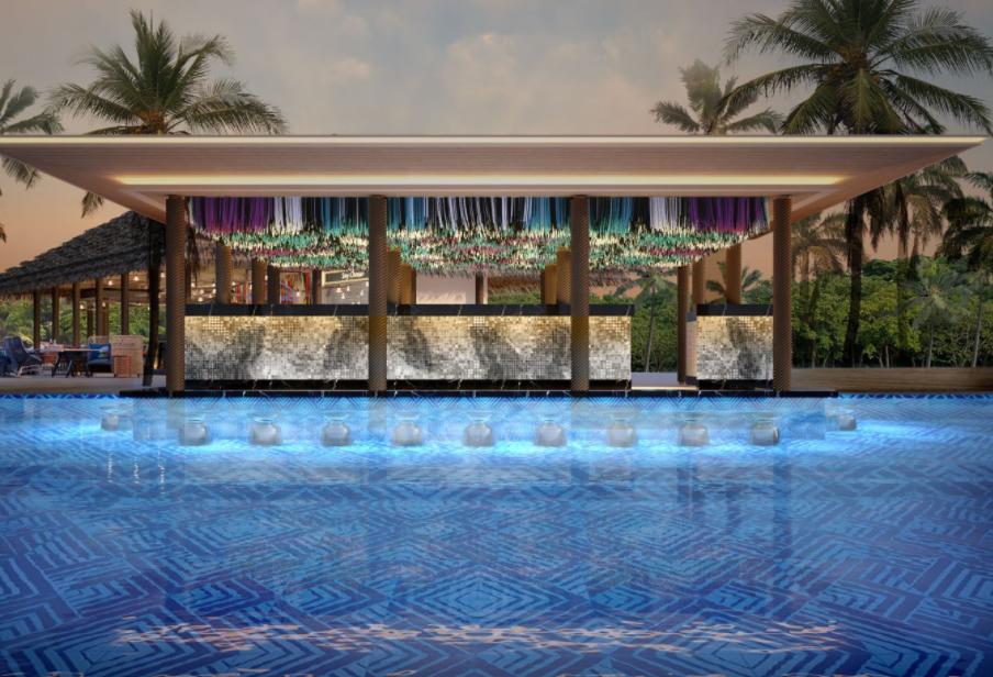 硬石酒店 HARD ROCK HOTEL MALDIVES ,马尔代夫风景图片集:沙滩beach与海水water太美,泳池pool与水上活动watersport好玩