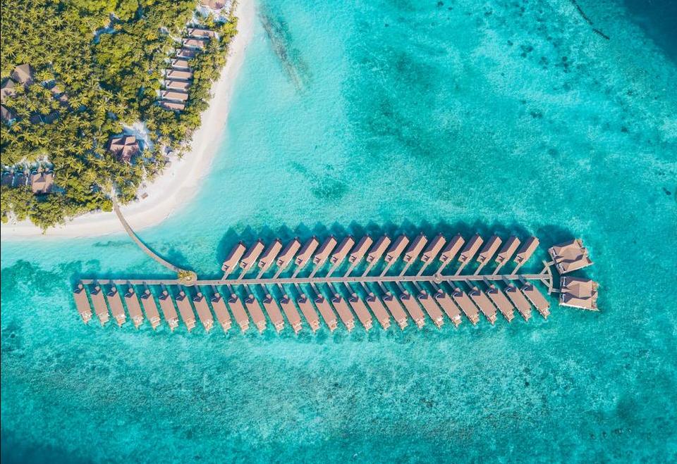 瑞提法鲁岛 Reethi Faru Resort 鸟瞰地图birdview map清晰版 马尔代夫