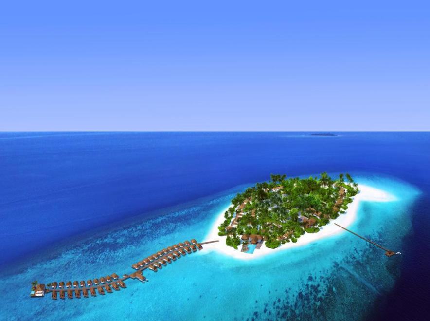 巴廖尼 Baglioni Resort Maldives 鸟瞰地图birdview map清晰版 马尔代夫