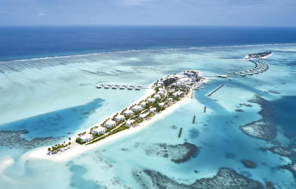 悦宜湾珊瑚岛酒店 Hotel Riu Atoll 鸟瞰地图birdview map清晰版 马尔代夫