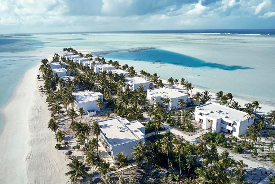悦宜湾珊瑚岛酒店 Hotel Riu Atoll ,马尔代夫风景图片集:沙滩beach与海水water太美,泳池pool与水上活动watersport好玩