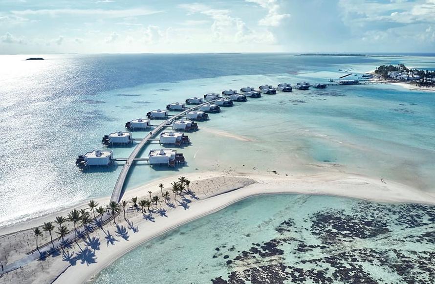 悦宜湾奢享|宫殿酒店 Riu Palace Maldivas 鸟瞰地图birdview map清晰版 马尔代夫