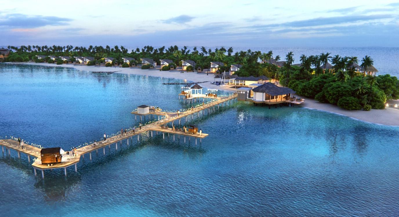 马尔代夫 万豪酒店 JW Marriott Maldives Resort Spa 平面地图查看