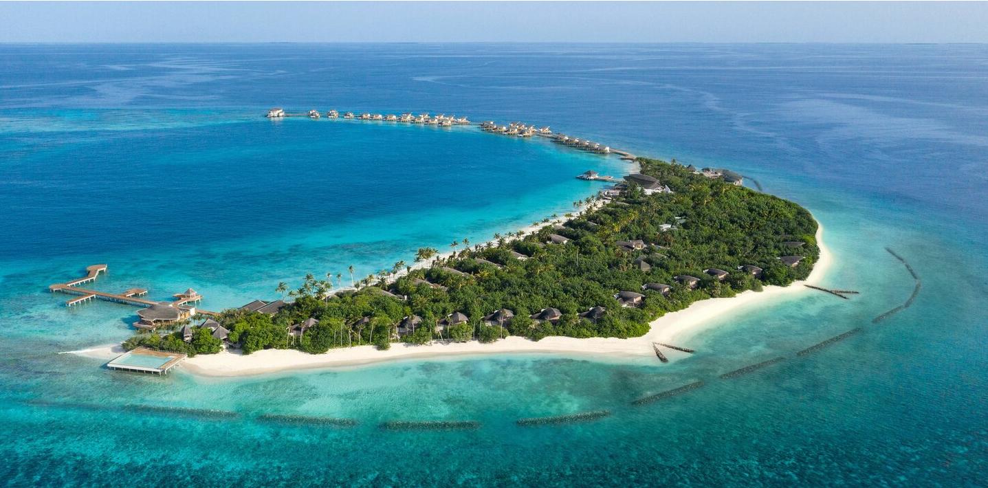 万豪酒店 JW Marriott Maldives Resort Spa 鸟瞰地图birdview map清晰版 马尔代夫