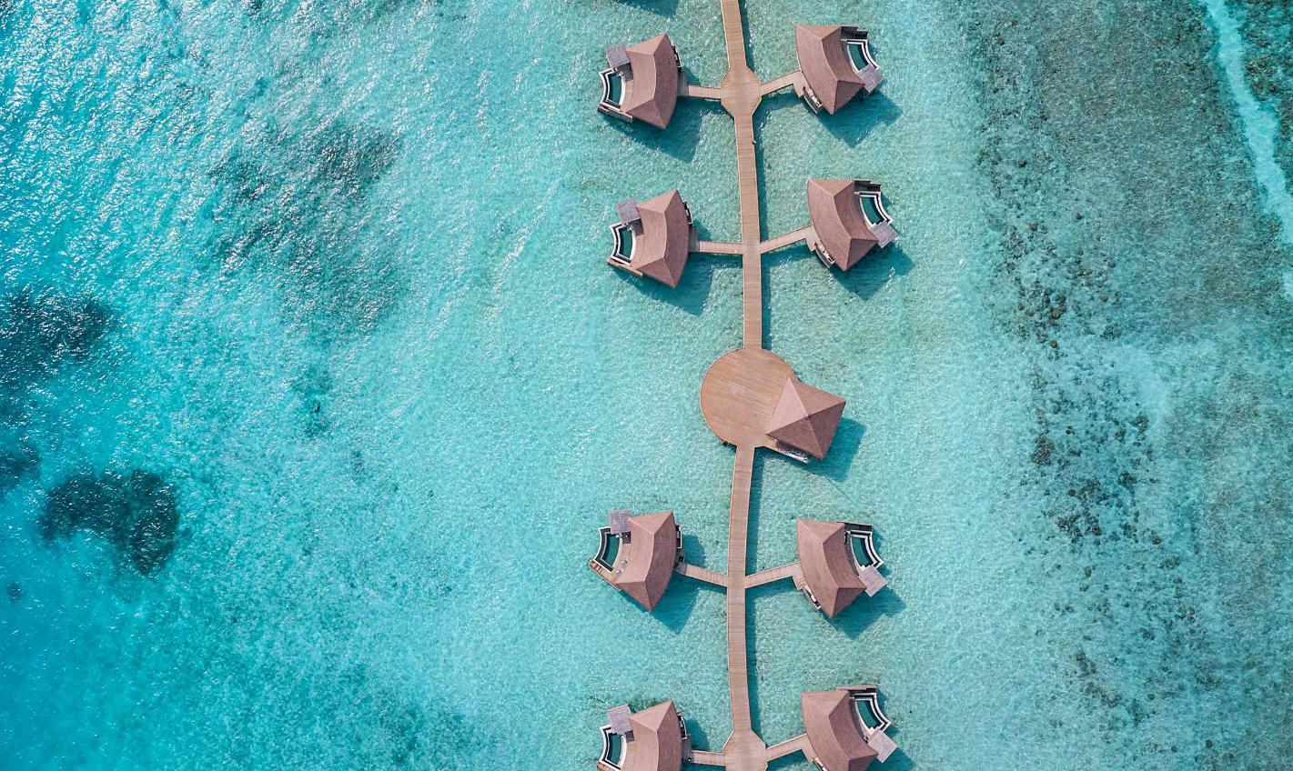 洲际酒店(ihg) InterContinental Maldives Maamunagau Resort 鸟瞰地图birdview map清晰版 马尔代夫