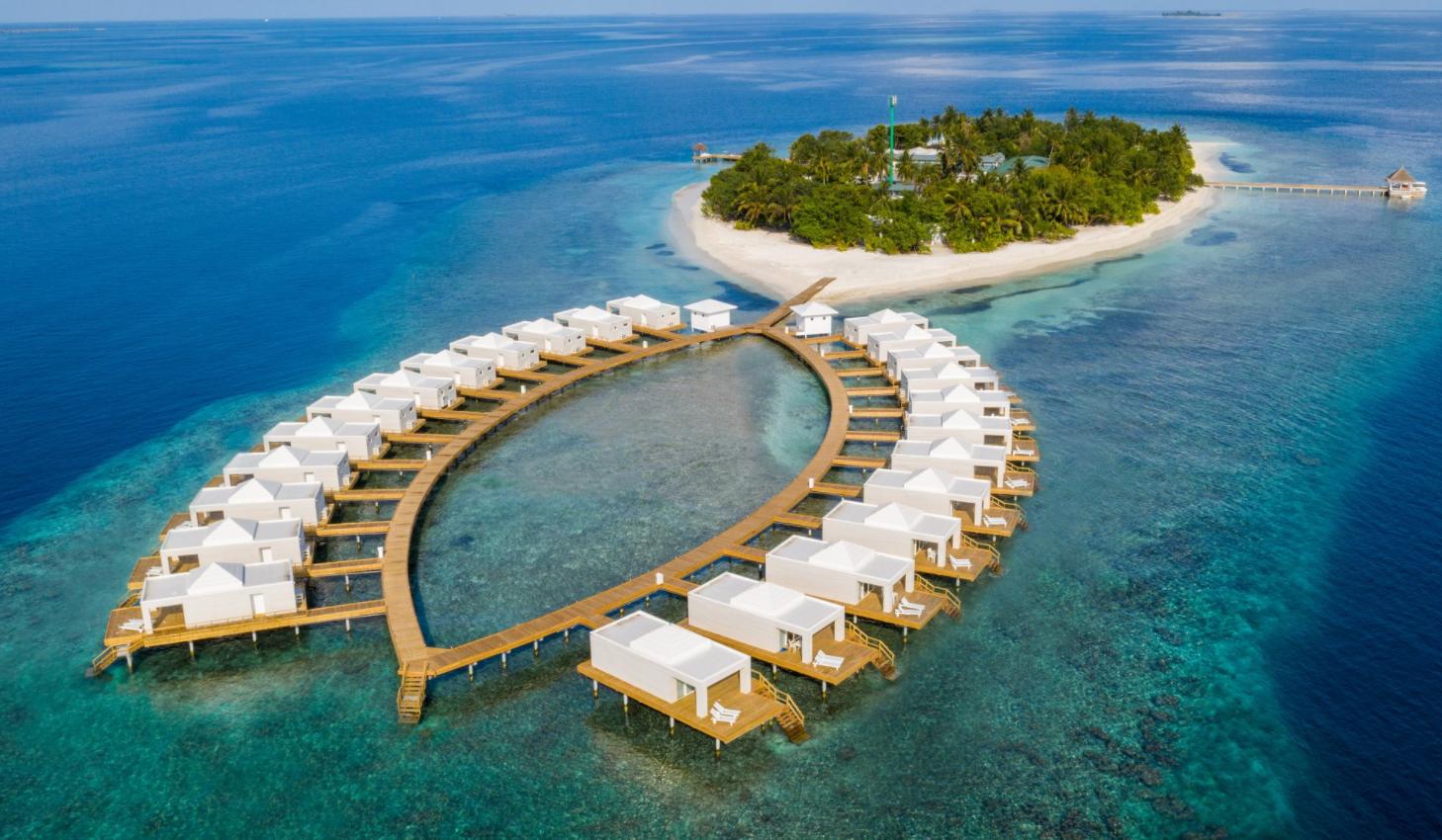 巴塔拉岛|桑迪斯 Sandies Bathala Maldives 鸟瞰地图birdview map清晰版 马尔代夫