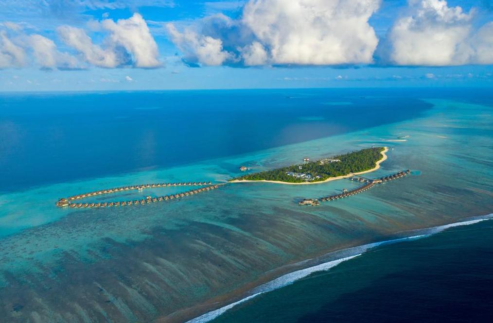 铂尔曼马尔代夫 Pullman Maldives Maamutaa Resort 鸟瞰地图birdview map清晰版 马尔代夫