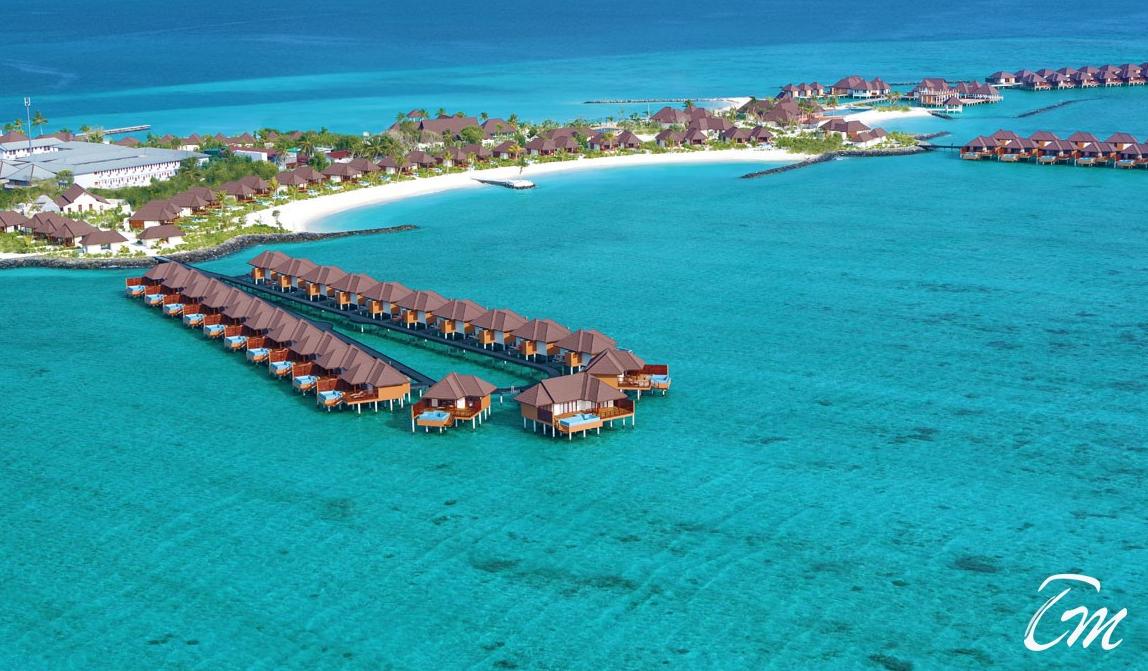 瓦露岛 VARU BY ATMOSPHERE 鸟瞰地图birdview map清晰版 马尔代夫
